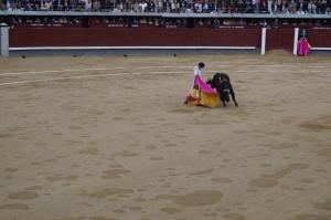 Bullfight in Madrid.