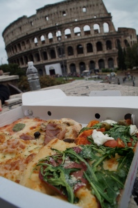 Best birthday ever:  margarita pizza and ancient roman ruins.