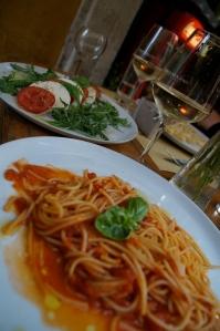 The best combination:  Mozzarella and pasta.