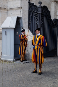Yep the Swiss guards do wear ridiculous outfits.