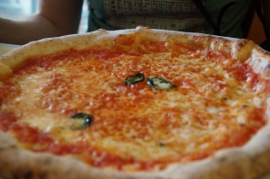 Margarita pizza.  Two simple ingredients to make one LIFE CHANGING pizza.