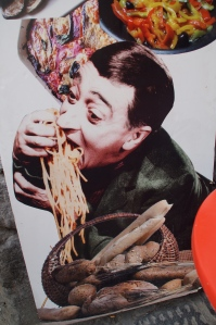 A lot of people think they can eat pasta all sexy and not messy...but let's be real THIS is what you look like.