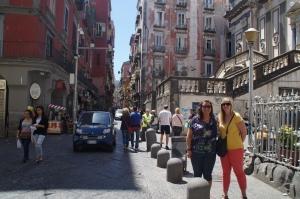 Enjoying the streets of Naples.