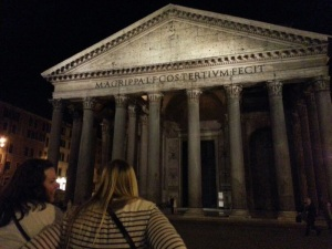 Contemplating how amazing our lives are outside the Pantheon.