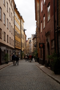The historic center, Gamla Stan.  Here you can find many different antique stores with plenty of items with 3 crowns on it!