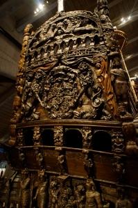 The vasa boat's stern.  Lavishly decorated por supuesto.