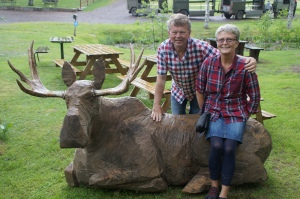 Mats and his wife Inga-Lill at the Moose Park.