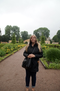 Hanging out at his gardens in Uppsala!