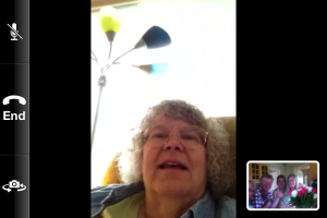 Blow my mom's mind with technology advances and have her FaceTime everyone in Sweden.