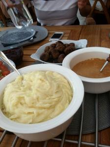 Ate moose meatballs!  Delicious!