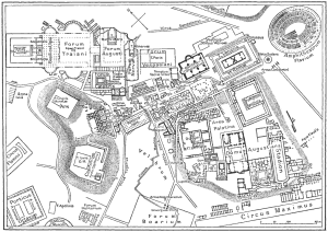 Here is a map of what the center of ancient Rome.