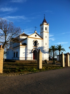 This church sits outside of Bollullos and is mainly used for weddings and saint days.  But it has the best view of all of Bollullos.