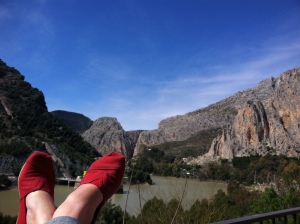 A great advert for TOMS!  Although we only ate while in El Churro, the view was amazing!