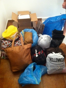 The donate pile.
