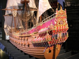 Here is the model of the ship.  Notice how colorful the ship was.  If anything Gustav made sure this boat looked wealthy.