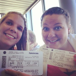 Enjoyed my flight to Madrid with this awesome chica!