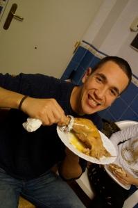 Juan really liked the turkey...