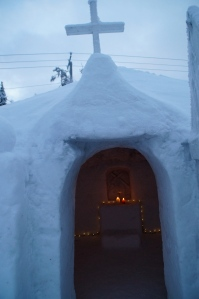 an igloo church…seriously.  Never thought I would stumble upon this.