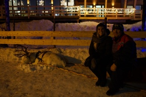 hanging out with a REAL Sammi at Santa's Village…IN THE ARCTIC CIRCLE!