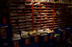Santa's legit post office.  This is the number one post office where kids send Santa their wish lists.