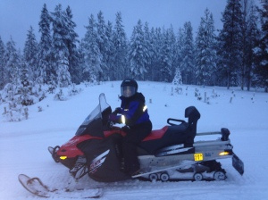 The only time you will see me on a snowmobile.