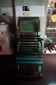 Torturing chair that was used during interrogations.