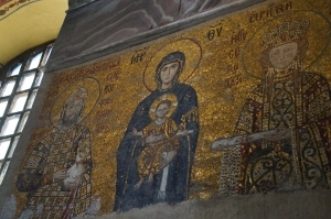 The Virgin and the Child mosaic.