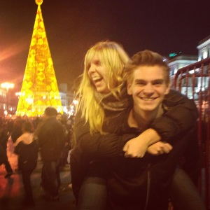 Gotta get that Christmas card worthy photo at Puerta del Sol!