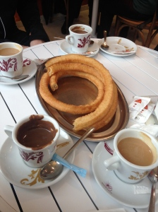 Churros con chocolate=the most spanish thing ever