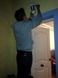 Yep, I got him to change the lightbulb.