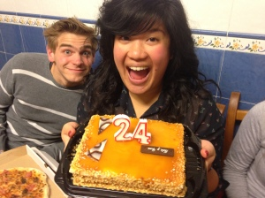 We celebrated my roommates 24th birthday while they were here.