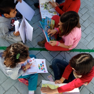 National Book day:  Older grades were partnered up with the younger to read stories and exchange book related crafts.