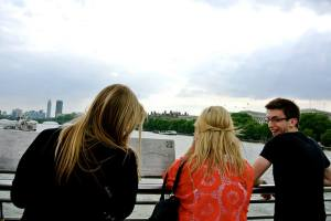 On the bridge that the Death Eaters in the Deathly Hallows Part 1 destroy.  NBD
