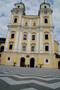 The Mondsee church where the wedding in the film was shot.