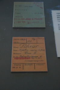 A prisoners card that would follow them to each camp they entered.