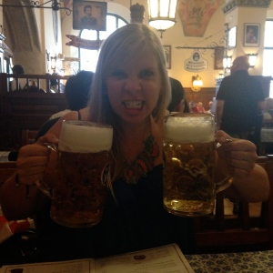 Literally the biggest glass of beer I have ever had.