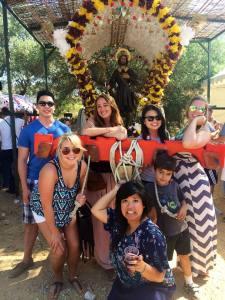 Celebrating la Romaria in the neighboring town of Churriana!