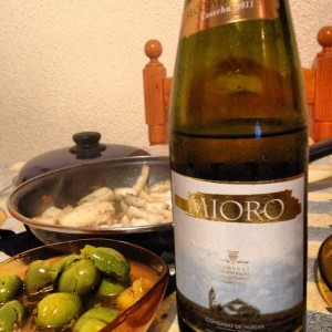 My favorite foods from Bollullos:  Choco from Huelva, vino from Bollullos, and olives FROM BOLLULLOS.