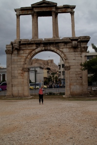 Hanging out with Hadrian's gate!