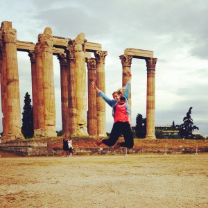 Jumping for history at the temple of Zeus!