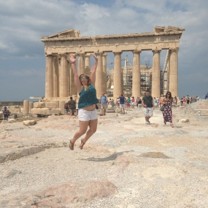 """So security has cracked down on the Acropolis, so un-uniformed security will come and yell at you for taking """"disrespectful"""" pictures just like this one.  SUCKAS COULDN'T STOP ME."""