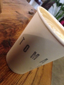 A trip to Madrid wouldn't be complete without some cafe con leche from Toma cafe.