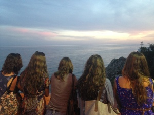 Catching the sunset in Nerja