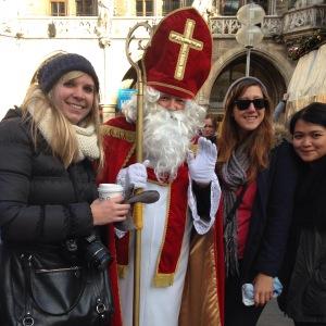 Marienplatz is also Santa's local hangout.