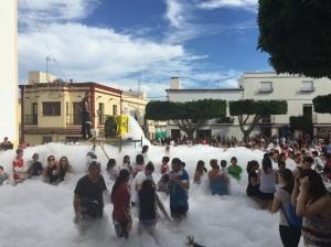 Town foam party!
