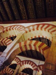 Inside the famous Mezquita in Cordoba.