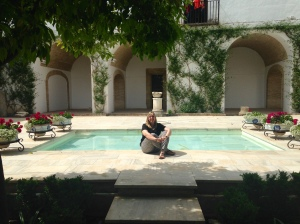 Just hanging out by my new pool.