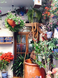 Many times the owner of the house is the one who decorates the patio.  Sometimes its the whole neighborhood that puts in time or money to care for the patio.