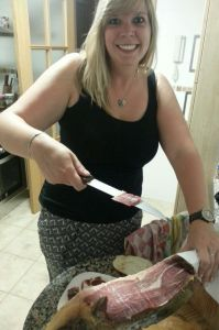 First I had to master how to successfully cut jamon.