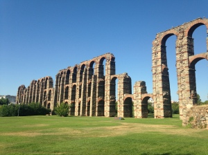 The old Roman aqueducts that was used to transport water back int he day.